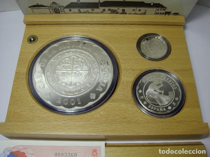 Monedas FNMT: Monedas de Colección. Plata. Casa de la Moneda de Segovia - 2001. Con estuche, certif. y encapsulada - Foto 2 - 74898499