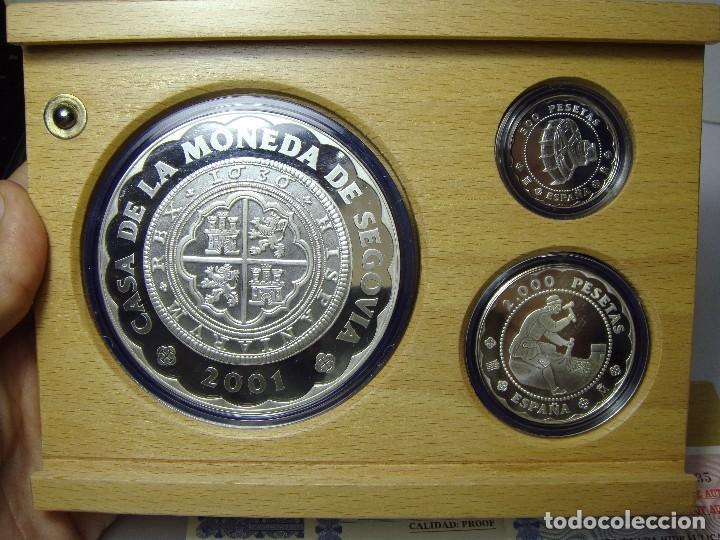 Monedas FNMT: Monedas de Colección. Plata. Casa de la Moneda de Segovia - 2001. Con estuche, certif. y encapsulada - Foto 4 - 74898499