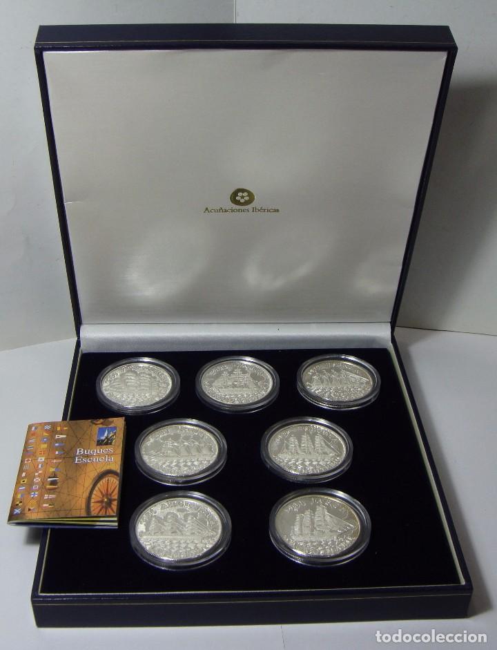 MONEDAS DE COLECCIÓN. PLATA. BUQUES ESCUELA. CON CAJA Y CERTIFICADO. (Numismática - España Modernas y Contemporáneas - FNMT)
