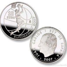 Monedas FNMT: EUROBASKET 2007, SALTO A CANASTA. FNMT. 10 EURO (8 REALES). 2007. PLATA. Lote 74984059
