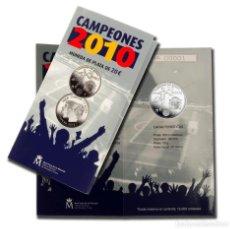 Monedas FNMT: CAMPEONES 2010. FNMT. 20 EUROS. 2010. PLATA. CARTERA NUMERADA. Lote 268300804