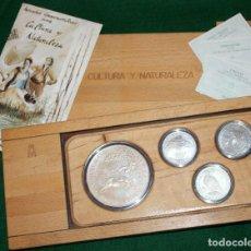 Monedas FNMT: CULTURA Y NATURALEZA 1995 ESTUCHE ESPAÑA PROFF PLATA SILVER AG FNMT. Lote 77569245