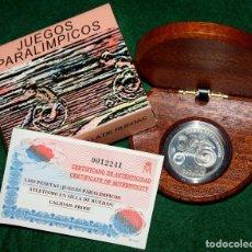 Monedas FNMT: 1000 PESETAS ATLETISMO EN SILLA DE RUEDAS JUEGOS PARAOLIMPICOS 2000 PLATA PROFF SILVER FNMT. Lote 77672069