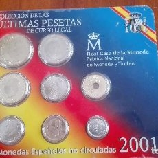 Monedas FNMT: ULTIMA CARTERA PESETAS 2001. Lote 79167885