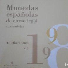 Monedas FNMT: CARTERA OFICIAL DE LA FNMT DE ESPAÑA 1998. Lote 79168981