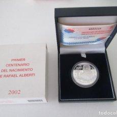 Monedas FNMT: 10 EUROS * 2002 * PRIMER CENTENARIO DEL NACIMIENTO DE RAFAEL ALBERTI * PLATA. Lote 80051801