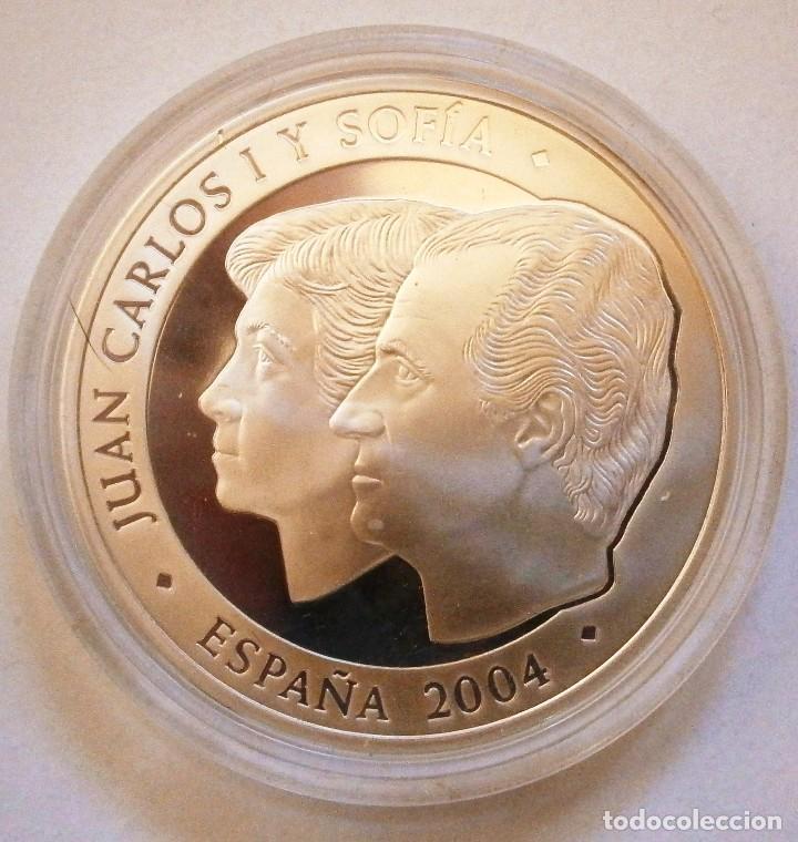 Monedas FNMT: Moneda Conmemorativa 10 € Boda de El Príncipe de Asturias con Doña Leticia Ortiz 2004 - Foto 2 - 80299021