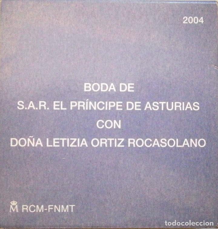 Monedas FNMT: Moneda Conmemorativa 10 € Boda de El Príncipe de Asturias con Doña Leticia Ortiz 2004 - Foto 5 - 80299021