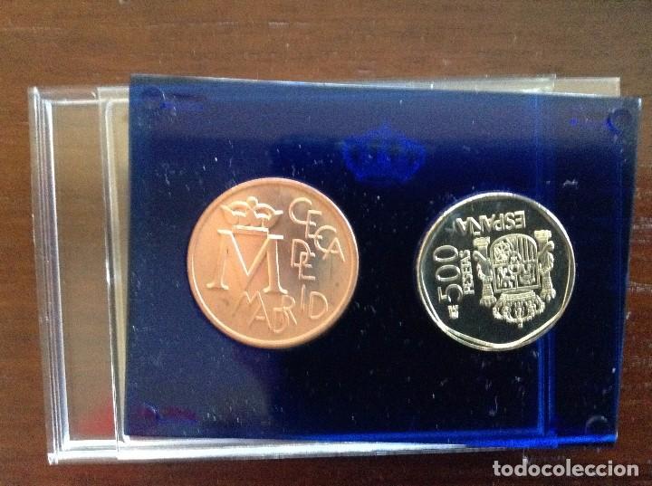 Monedas FNMT: Moneda 500 pesetas y medalla bronce - Foto 2 - 82327356