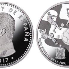 Monedas FNMT: ESPAÑA: 10 EURO PLATA 2017 PROOF MUNDIAL FUTBOL RUSIA 2018 FIFA. Lote 82661708