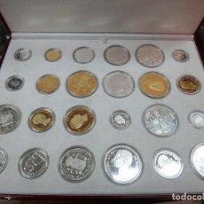 Monedas FNMT: ESTUCHE HISTORIA DE LA PESETA, EMISION ESPECIAL PLATA Y ORO , ESTUCHE 24 MONEDAS FNMT , ORIGINAL. Lote 84330644