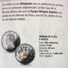 Monedas FNMT: 100 EUROS DE ORO + 10 EUROS DE PLATA 2016 DEDICADO AL EQUIPO OLÍMPICO ESPAÑOL. Lote 85551724