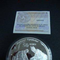 Monedas FNMT: 50 EUROS DE PLATA 2011 CON NÚMERO CERTIFICADO 000009 DE LA IV SERIE PINTORES ESPAÑOLES-EL GRECO. Lote 85553296