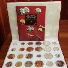 Monedas FNMT: PRIMERA EDICIÓN 24 MONEDAS DE PLATA Y BAÑO ORO HISTORIA DE LA PESETA. Lote 86065336