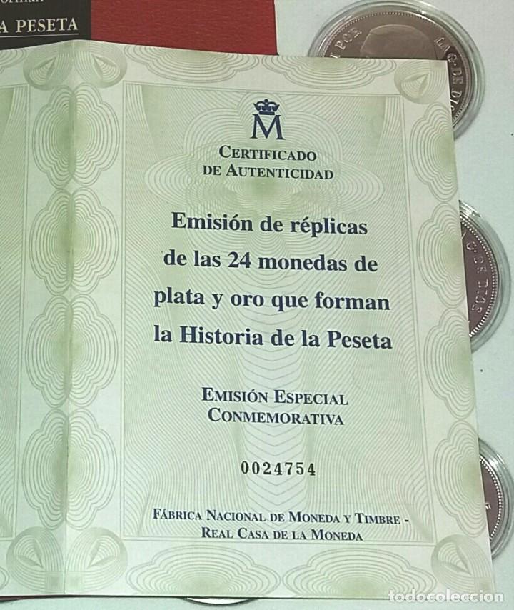 Monedas FNMT: Primera edición 24 monedas de plata y baño oro HISTORIA DE LA PESETA - Foto 2 - 86065336