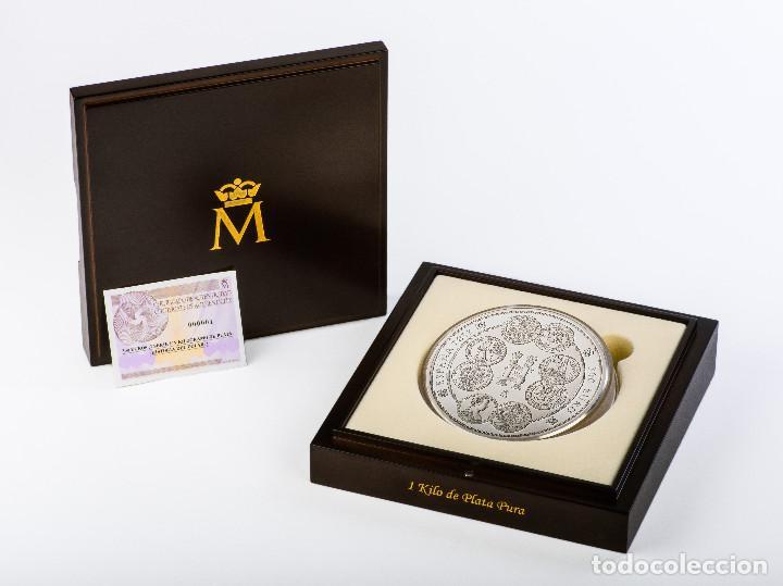 Monedas FNMT: ESPAÑA 300 euro plata 2017 HISTORIA DEL DOLAR - 1 kilogramo plata pura - Foto 2 - 87575588