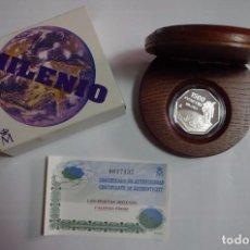Monedas FNMT: 1500 PTS - PLATA PROOF - MILENIUM CON ESTUCHE Y CERTIFICADO. Lote 90663475
