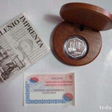Monedas FNMT: 1500 PTS - PLATA PROOF - MILENIUM IMPRENTA - CON ESTUCHE Y CERTIFICADO. Lote 90663660