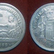 Monedas FNMT: ESPAÑA MEDALLA FNMT 1 PESETA 1869 PLATA 925 ESPAÑA HISTORIA LA PESETA 13,40 GR 32MM. Lote 91737490