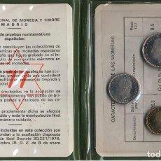 Monedas FNMT: 1 CARTERAS ESPAÑA PESETAS CARTERA OFICIAL FNMT 1977 PRUEBAS NUMISMÁTICAS. Lote 91791945