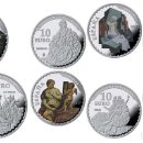 Monedas FNMT: ESPAÑA: COLECCIÓN COMPLETA PLATA - V SERIE TESOROS DE MUSEOS ESPAÑOLES. Lote 92136710