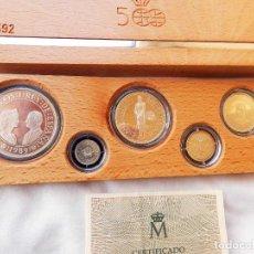 Monedas FNMT: MONEDAS EMITIDA POR LA FNMT EN 1.991 DE EMISIONES CONMEMORATIVAS DEL QUINTO CENTENARIO 1991. Lote 97377615