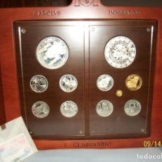 Monedas FNMT: COLECCION COMPLETA DE PLATA Y ORO-CARLOS V-EMPERADOR-AÑO 2000. Lote 97883335