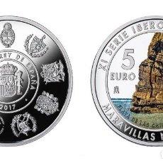 Monedas FNMT: ESPAÑA 5 EURO PLATA 2017 XI SERIE IBEROAMERICANA - MARAVILLAS NATURALES. Lote 98396683