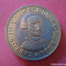 Monedas FNMT: MEDALLA CONMEMORATIVA DEL BICENTENARIO DE LA FNMT. 1988. CARLOS III Y LA CASA DE LA MONEDA. MBC. Lote 102502207