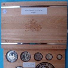 Monedas FNMT: ESTUCHE 7 MONEDAS QUINTO CENTERARIO PLATA , 1992 , CINCUENTIN , 10000 5000, 2000 PESETAS..ORIGINALES. Lote 103689615