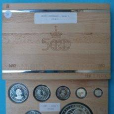 Monedas FNMT: ESTUCHE 7 MONEDAS QUINTO CENTERARIO PLATA , 1992 , CINCUENTIN , 10000 5000, 2000 PESETAS..ORIGINALES. Lote 103689719