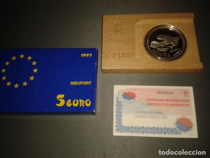 CINCO EUROS 1997 NIEUPORT, HOMENAJE A LA AVIACIÓN (Numismática - España Modernas y Contemporáneas - FNMT)