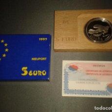 Monedas FNMT: CINCO EUROS 1997 NIEUPORT, HOMENAJE A LA AVIACIÓN. Lote 105951447