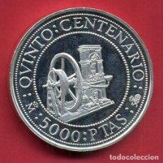 Monete FNMT: MONEDA PLATA , 5000 PESETAS 1992 , QUINTO CENTENARIO , PROOF , ORIGINAL , B6. Lote 107666055