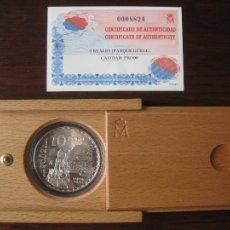 Monedas FNMT: MONEDA 10 EUROS PLATA PROOF FNMT ESPAÑA 2002 - AÑO INTERNACIONAL DE GAUDI PARQUE GÜELL. Lote 109046659