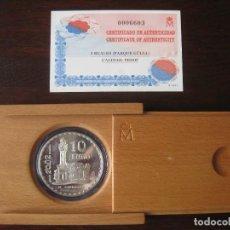 Monedas FNMT: MONEDA 10 EUROS PLATA PROOF FNMT ESPAÑA 2002 - AÑO INTERNACIONAL DE GAUDI PARQUE GÜELL EL CAPRICHO. Lote 109086327