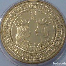 Monedas FNMT: REPRODUCCION CUADRUPLE EXCELENTE REYES CATOLICO FNMT HISTORIA DE LA MONEDA ESPAÑOLA, PLATA 925 Y ORO. Lote 178633673