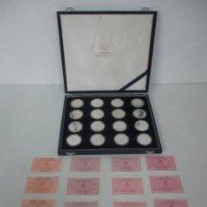 Monedas FNMT: ESTUCHE COMPLETO - 16 MONEDAS, 2000 PTAS - PLATA - OLIMPIADAS DE BARCELONA - CON CERTIFICADOS - 1992. Lote 111432783