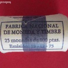 Monedas FNMT: CARTUCHO FNMT - 25 MONEDAS - 100 PESETAS - MUNDIAL 82 - ESTRELLA 80... R-8417. Lote 113055135