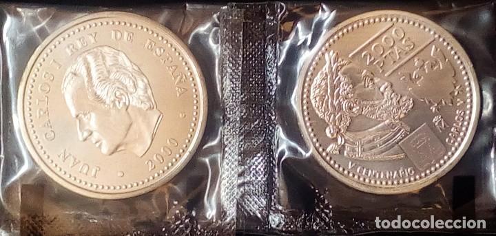 ESPAÑA 2000 PESETAS CONMEMORATIVA AÑO 2000-500 ANIV.NACIMIENTO CARLOS V-PLATA 925-FUNDA (Numismática - España Modernas y Contemporáneas - FNMT)
