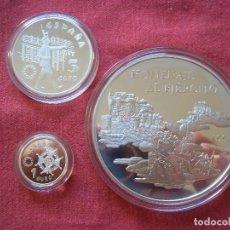 Monedas FNMT: SET MONEDAS ESPAÑA 25 (168,75GR) , 5 , 1 EURO 1998 PLATA 925 PROOF NOMENAJE AL EJERCITO. Lote 114936215