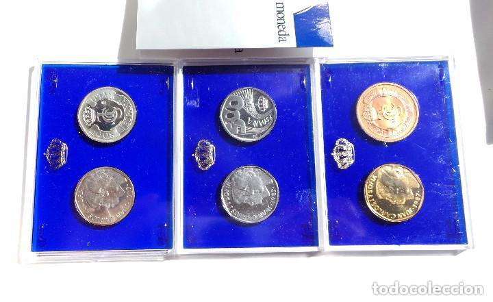 Monedas FNMT: ESTUCHE PRUEBAS DE LA FÁBRICA NACIONAL DE MONEDAS Y TIMBRE - 500 PESETAS. PLATA, ACERO Y COBRE - Foto 2 - 277453923