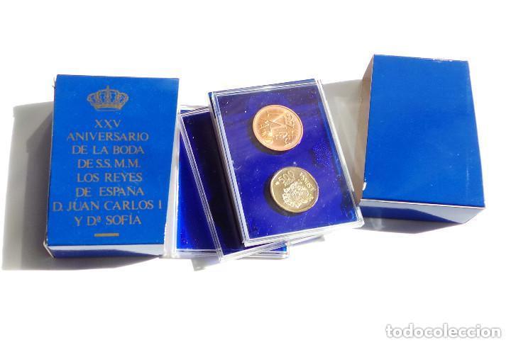 Monedas FNMT: ESTUCHE PRUEBAS DE LA FÁBRICA NACIONAL DE MONEDAS Y TIMBRE - 500 PESETAS. PLATA, ACERO Y COBRE - Foto 3 - 277453923