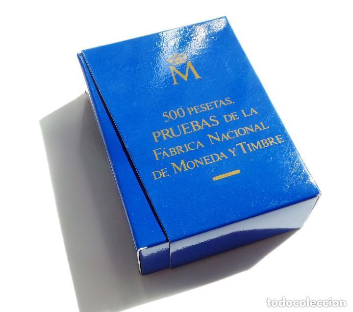 Monedas FNMT: ESTUCHE PRUEBAS DE LA FÁBRICA NACIONAL DE MONEDAS Y TIMBRE - 500 PESETAS. PLATA, ACERO Y COBRE - Foto 4 - 277453923