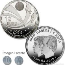 Monedas FNMT: ESPAÑA 12 EUROS CONMEMORATIVA 2010-PRESIDENCIA ESPAÑOLA DE LA UNIÓN EUROPEA*S/C.PLATA 925-CAPSULA. Lote 275956308