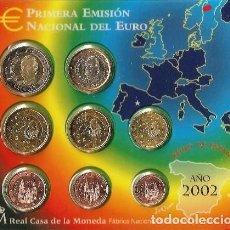 Monedas FNMT: - ESPAÑA CARTERA OFICIAL -BLISTER- F.N.M.T. AÑO 2002 *PRIMERA EMISION DEL EURO*. Lote 221009877