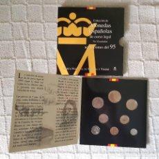 Monedas FNMT: CARTERA DE MONEDAS ESPAÑOLAS DE CURSO LEGAL SC ACUÑACIONES DEL 95 1995. Lote 120586551