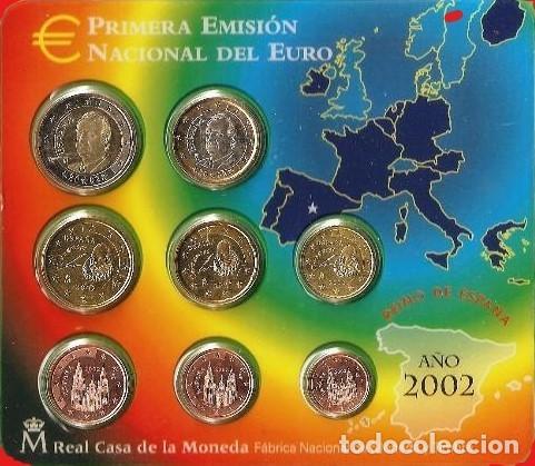 OFERTA - ESPAÑA CARTERA OFICIAL -BLISTER- F.N.M.T. AÑO 2002 *PRIMERA EMISION DEL EURO* PERFECTA (Numismática - España Modernas y Contemporáneas - FNMT)