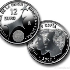 Monete FNMT: LOTE 10 MONEDAS DE 12 EUROS DE PLATA (2002) - COMPLETAMENTE NUEVAS Y EN SU FUNDA ORIGINAL DEL BANCO. Lote 124089275