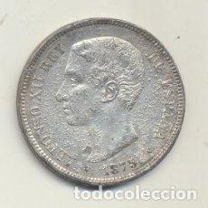 Monete FNMT: ALFONSO XII. 5 PESETAS. CALAMINA. 1875 DEM. FALSA DE ÉPOCA. BARRERA 1181. Lote 125937772